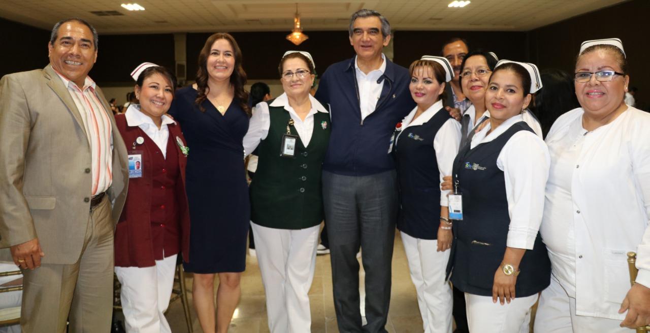 Gobierno de Mario López rinde homenaje  a enfermeras y enfermeros de Matamoros