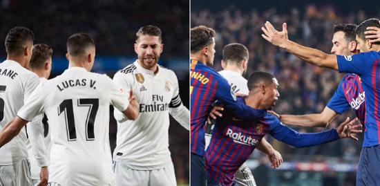 Real Madrid y Barcelona empatan 1-1 en la ida de las semis de Copa del Rey