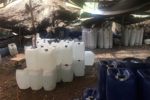 Semar destruye 31 laboratorios clandestinos en Sinaloa