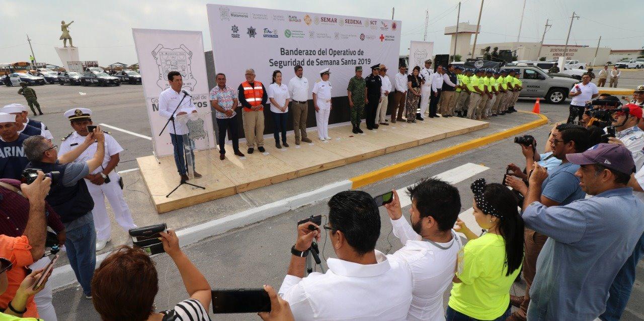 Activa alcalde Mario López, Operativo de Seguridad Semana Santa 2019 en Playa Bagdad