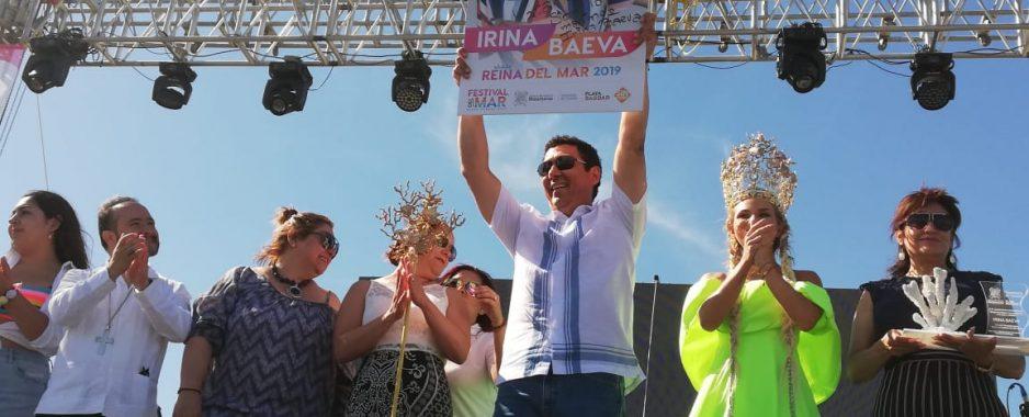 Corona alcalde de Matamoros a la Reina del Mar 2019, Irina Baeva