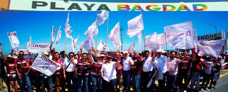 Brigada de impacto de candidatos de MORENA en Playa Bagdad