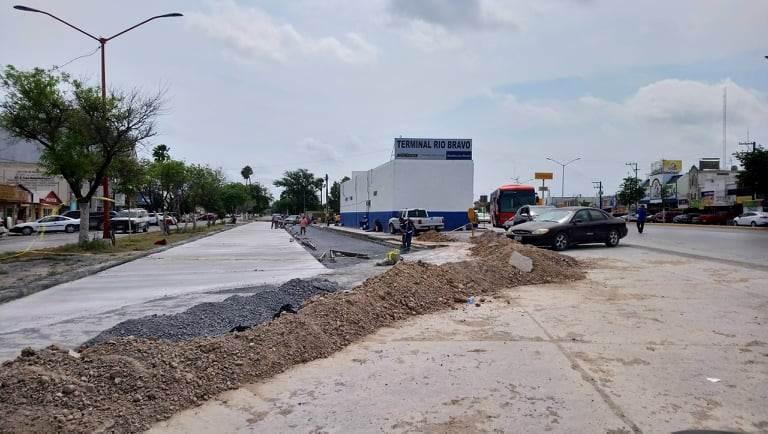 Avanza en desarrollo de obras gobierno municipal de Río Bravo