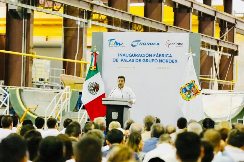 UT Matamoros presente en la inauguración de Nordex empresa de aerogeneradores