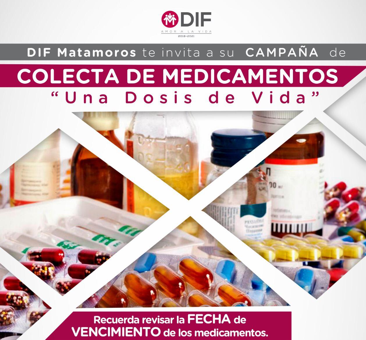"""Invita Marsella Huerta de López donar medicamentos a la campaña permanente """"Una Dosis de Vida"""""""