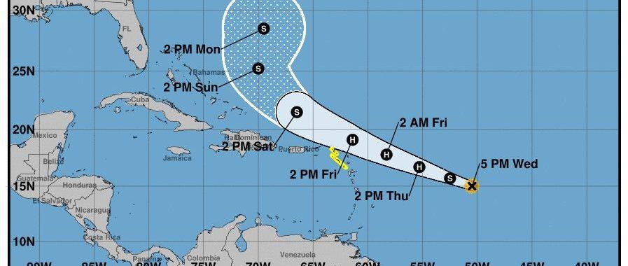 La tormenta tropical Jerry se convertirá en huracán el jueves