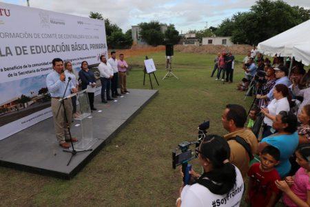 Inicia construcción de primaria con inversión aproximada a los 20 MDP : Alcalde Mario López