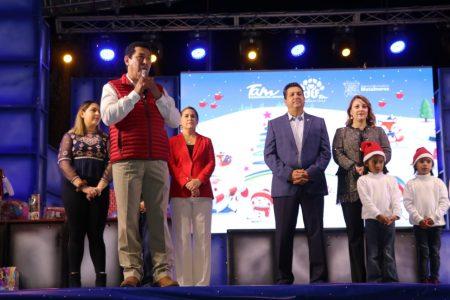 """Con encendido de pino activan Cabeza de Vaca y Mario López """"Viva la Navidad Tam 2019"""""""