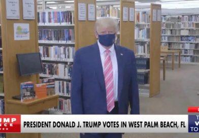 El presidente Donald Trump votó en West Palm Beach, Florida