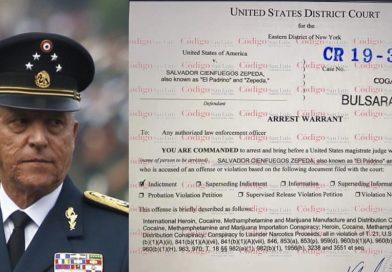 Estos son los delitos que el gobierno de EEUU imputa al general Cienfuegos