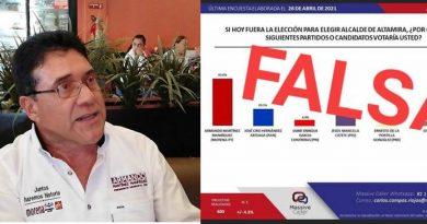 Porque no repunta, le entra la desesperación al candidato en Altamira y… miente